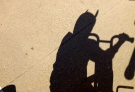 Batman contemplates his shadow